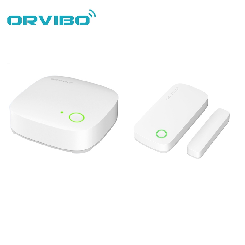 ORVIBO Alarm Mini WiFi Smart Door Window Sensor Home System Remote Control with ORVIBO ZigBee Hub VS Coolcam NAS-DS01Z original orvibo smart security kit alarm detector zigbee intelligent hub motion door sensor wifi ip camera app remote control