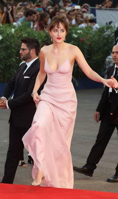 2017 Sexy Inspiriert durch Dakota Johnson Celebrity Dress Prom Roter ...