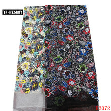 YF HZGJMY 2019 latest Unique design french embroidery lace fabric african high quality multi color for lady garment A2072-1