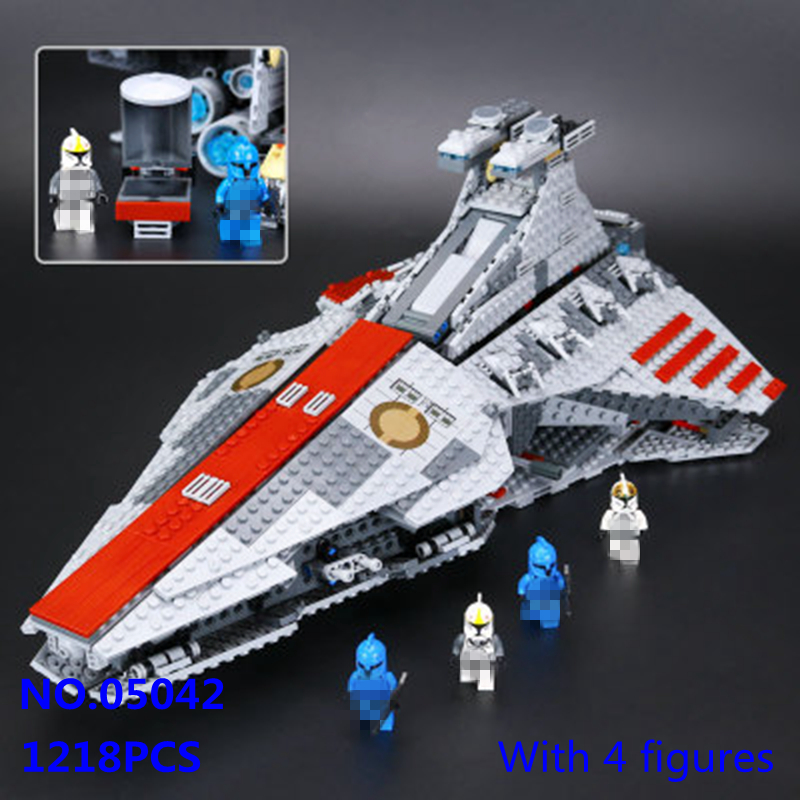 1218pcs Starwars The Republic cruiser Model Space Ship Building Blocks kits Bricks Toys for Children gift Compatible 8039 05042 wange mechanical application of the crown gear model building blocks for children the pulley scientific learning education toys