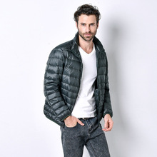 Winter Jacket Men Parkas Nice Warm Winter Ultra Light White Duck Down Jackets Male Casual Simple Stand Jackets And Coats HJ185