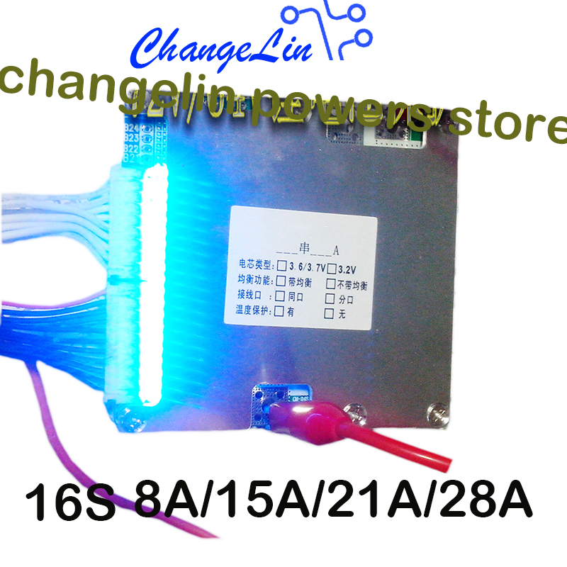 13S 60A 48V Li-ion Lithium Battery Cell Charging Protection Board Divde Port BMS