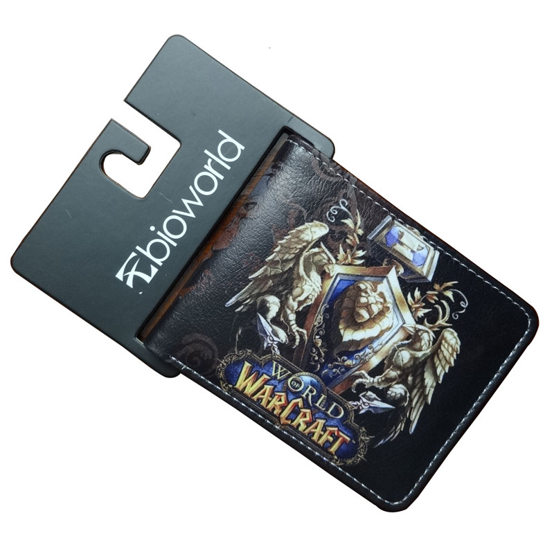 Hot 2017 World of Warcraft Wallets Cartoon Anime Purse Gift for Young Students PU Leather Dollar Bags Casual Short Wallet