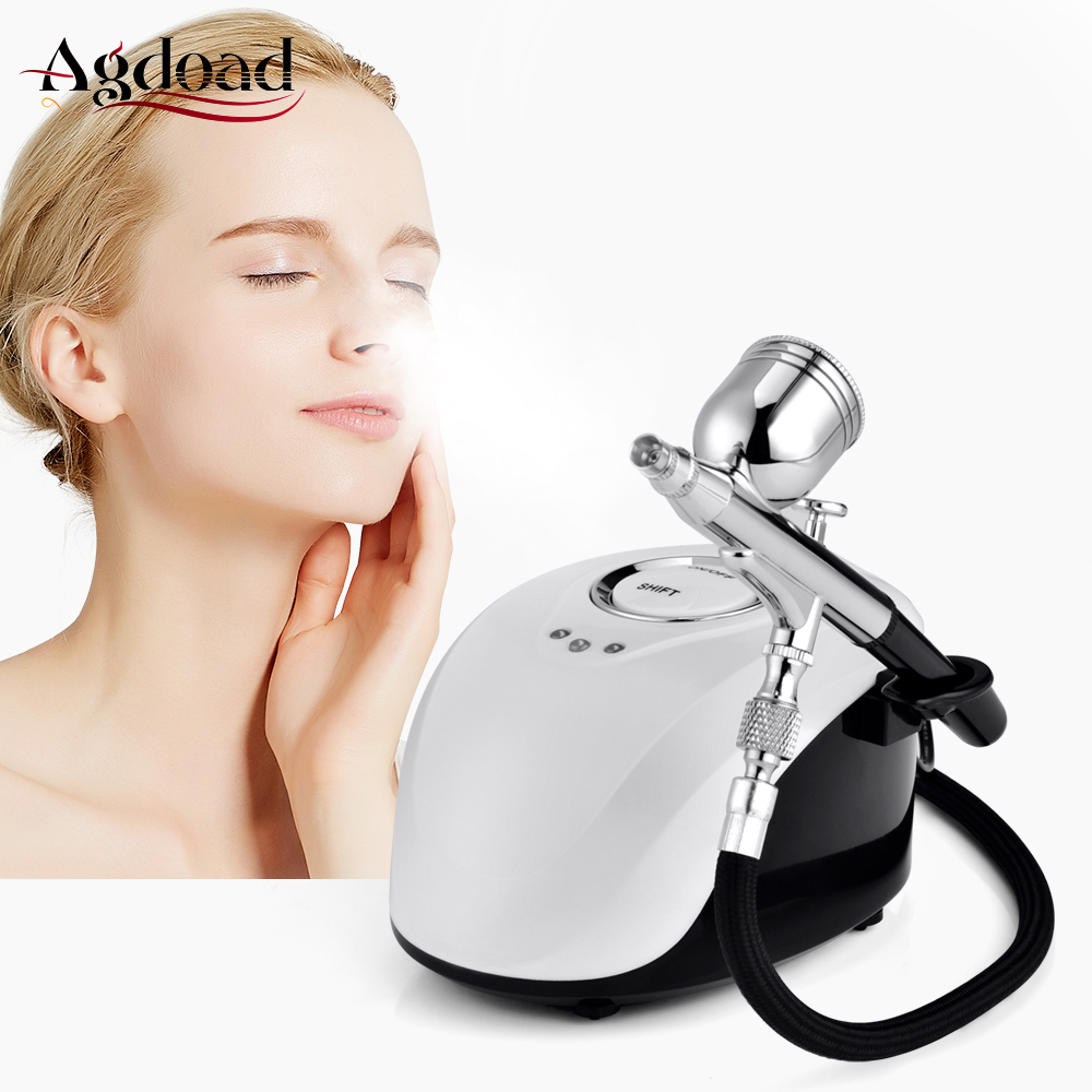Oxygen Therapy Water Oxygen Facial Machine Jet Mini Compressor Nano Oxgen Facial Sprayer For Face Beauty Spa Skin Rejuvenation