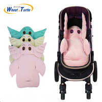 Cute Cartoon Baby Stroller Liner Seat Pad Soft Velvet Cushion For Baby Carriage Chair Car Seat Mat Stroller Accessories