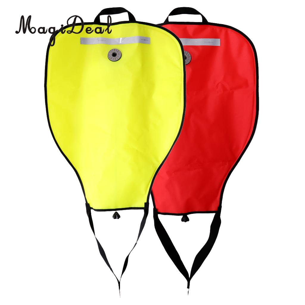 (Pack 2) Reflective 50lbs Salvage Lift Bag & Over Pressure Valve for Scuba Dive Underwater Recovery Treasure Find Safety Gear
