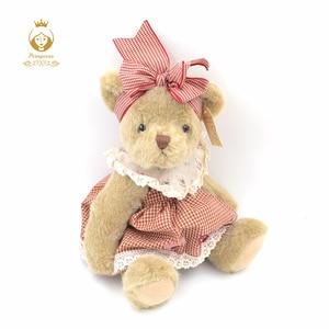 1 шт., 30 см, милый плюшевый мишка, плюшевые игрушки, кукла-мишка, мягкие куклы с животными, куклы для маленьких детей, для девочек, украшения дл...