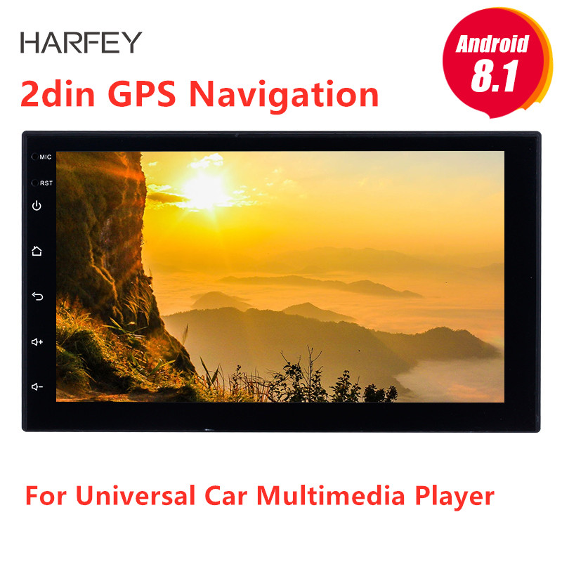 Harfey 7 Android 8.1 Car Multimedia player 2din GPS Navigation For Universal Nissan VW Toyota Kia rio Hyundai Suzuki HondaHarfey 7 Android 8.1 Car Multimedia player 2din GPS Navigation For Universal Nissan VW Toyota Kia rio Hyundai Suzuki Honda