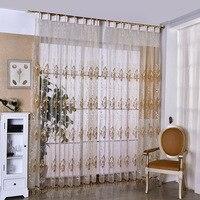 Шторы s для жизни обеденная спальня Европейский Роскошные пряжа жаккардовые сетки мелкой кофеин вышивка