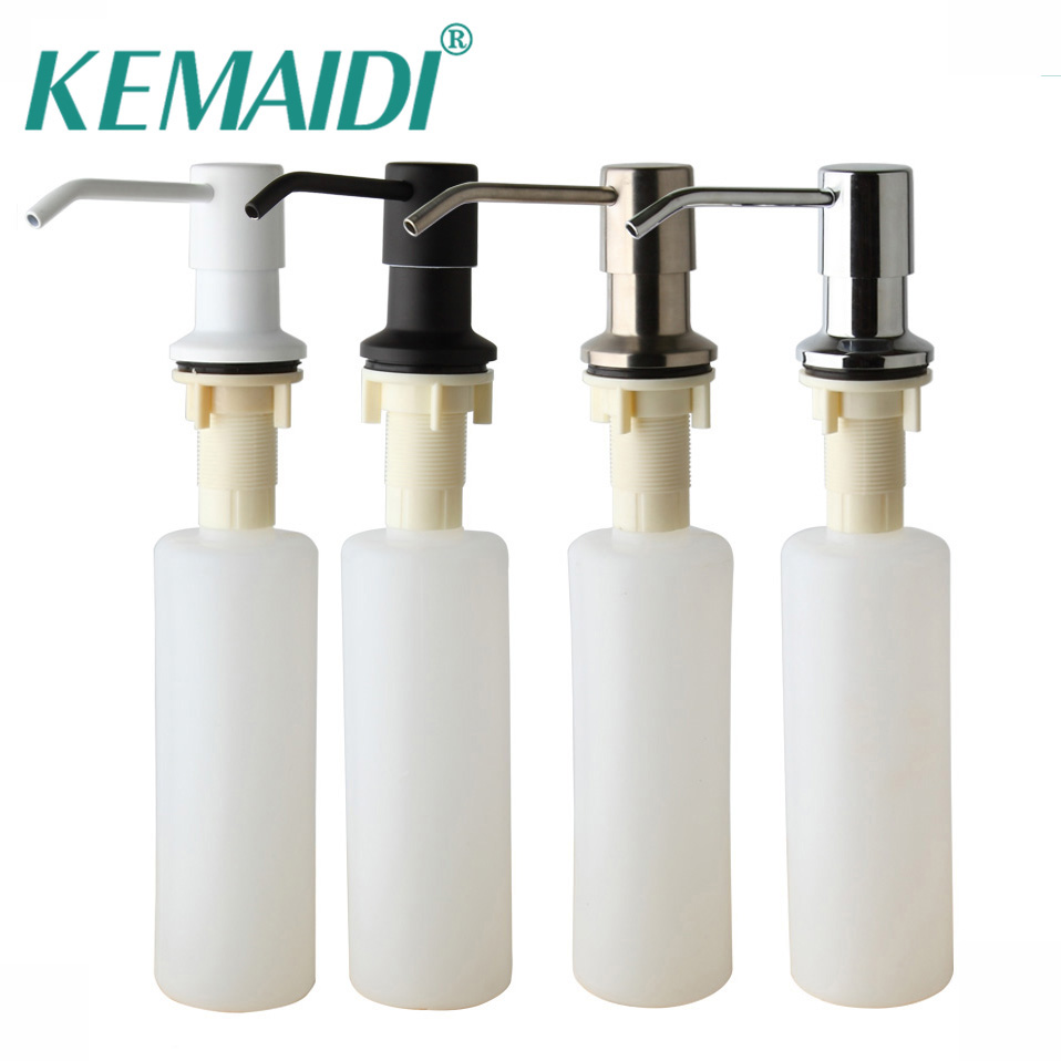 KEMAIDI Free Shipping Kitchen Sink Vessel Liquid Soap Dispenser Bathroom Shower Deck Mounted Distribuidor Soap Dispenser cheaper stainless steel liquid soap dispenser kitchen sink soap box free shipping chrome finished