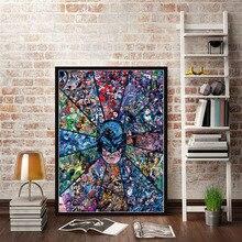Рождественские подарки постеры и принты Marvel DC Comics супергерои, Бэтмен, Джокер, Мстители, Супермен, Картина на холсте, настенный художественный плакат