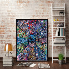 Christmas Gifts Posters and Prints Marvel DC Comics Superheros Batman Joker Avengers Superman Canvas Painting Wall Art Poster(China)