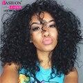7a pelo virginal brasileño con cierre queen hair productos con cierre bundle 3 unid brasileño kinky rizado pelo de la virgen con el encierro