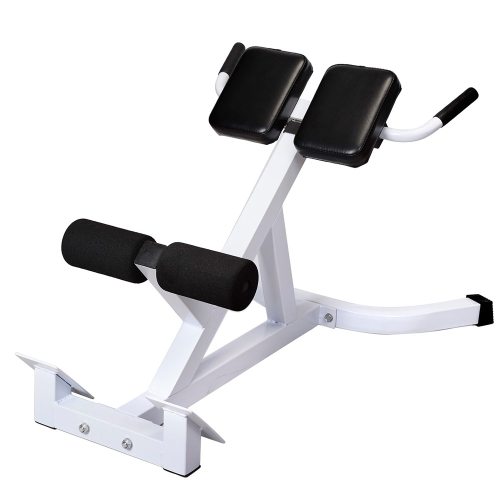 N-027 Back Hyperextension Bench Roman Chair White & Black image