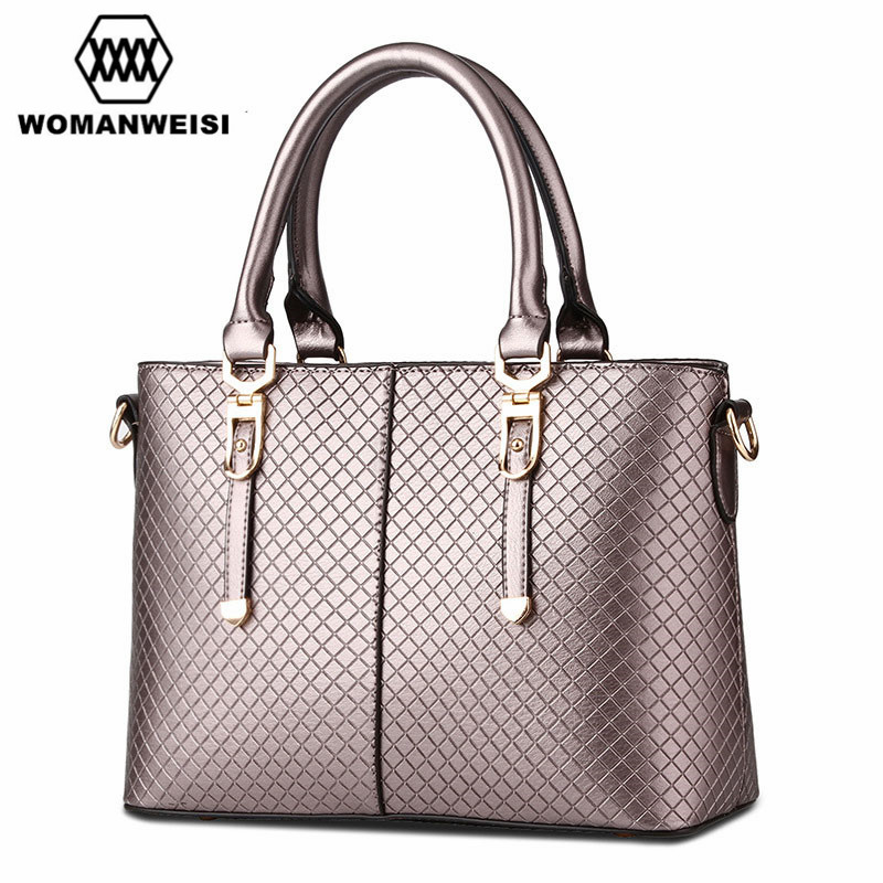 Фотография 2017 New Designer Luxury High Quality Leather Women Handbags Famous Brand Fashion Female Messenger Shoulder Over Bags 7 Colors