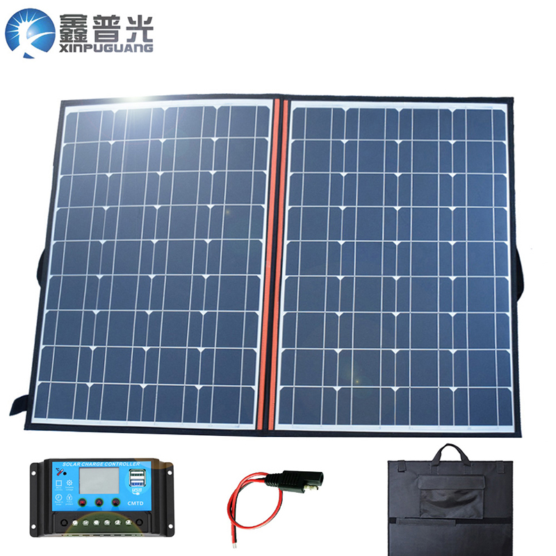 120w 18v Flexible Foldable Solar Panel Kits Portable home Charger 100w System USB 5V for 12v