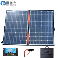 120w 18v Flexible Foldable Solar Panel Kits System Portable home USB Charger 100w for 12v battery Car Travel Boat Hiking Camping