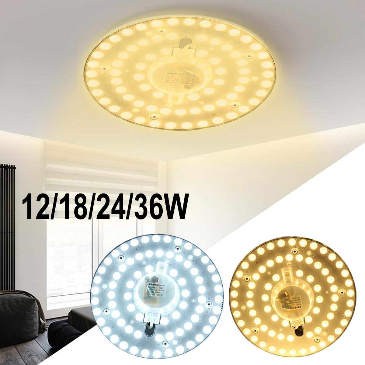12/18/24/36W Round Ceiling Lights LED Modern Ceiling Lamp Fixture Lighting Decoration for Living Room Bedroom Kitchen