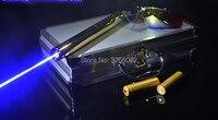 Высокая Мощность синий лазерные указки 500000 м 450nm LAZER фонарик горящая спичка/Бумага/свечи/черный/сигарет + очки Охота