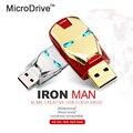 Capacidade Real 4 GB 8 GB 16 GB 32 GB IronMan 64 GB USB flash drive levou luz usb memory stick vara caneta Ironman unidade de armazenamento externo