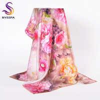 [BYSIFA] トレンディ女性 100% シルクネックスカーフ岬新ブランド秋冬カラフルな女性の純粋な絹のスカーフラップ 90*90 センチメートル