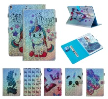 Fundas Case For apple iPad Pro 9.7 2016 PU Leather Flip Wallet Bling Unicorn Butterfly Flower for 7 7th Generation