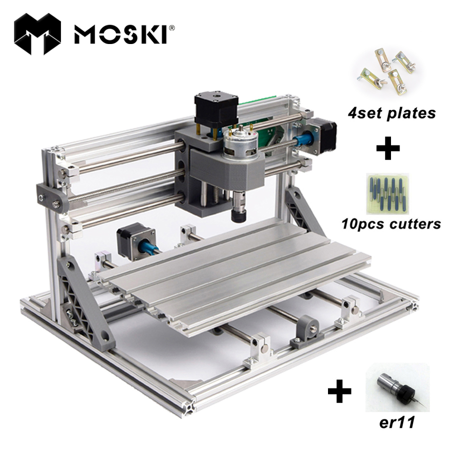 MOSKI ,CNC 1610 with ER11,diy cnc engraving machine,mini Pcb Milling Machine,Wood Carving machine,cnc router,cnc1610,best toys