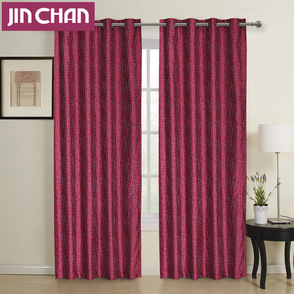 Ready Made Modern Window Blackout Curtains Fabric Polyester For Living Room  The Bedroom Kitchen Window Treatments Drapes Panel