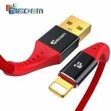 TIEGEM USB зарядное устройство кабель для передачи данных для iPhone X 8 7 6s Plus Быстрая зарядка кабель USB шнур Адаптер для iPhone 6 5S 5c Se телефон