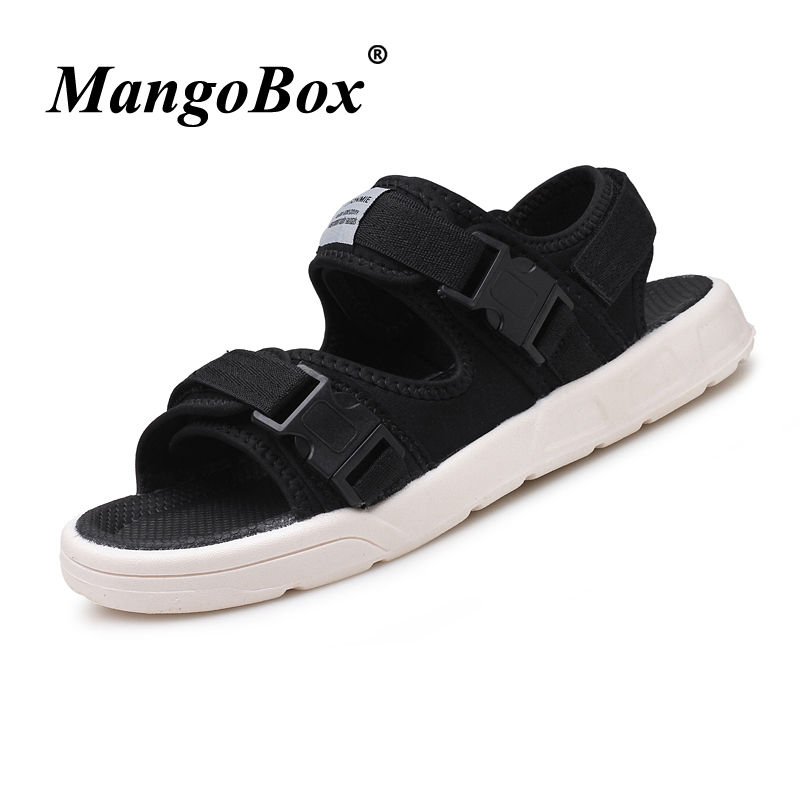 Summer Shoes for Male Black Red Mens Shoes 2018 Casual Rubber Bottom Flat Sandals for Men Lightweight Anti-slip Fashion Sandals