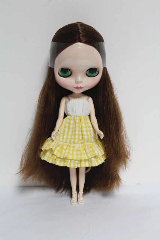 O Envio gratuito de big desconto RBL-24DIY Nude Blyth boneca de presente de aniversário para menina 4 cores grandes olhos bonecas com Cabelo bonito brinquedo bonito