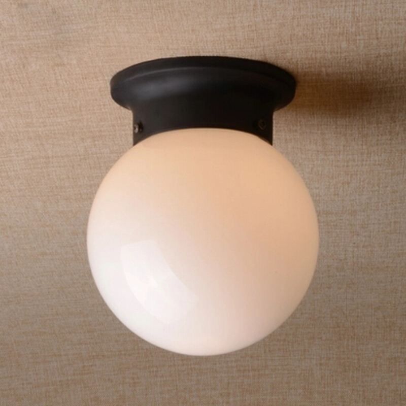 White black ball ceiling lamp glass entranceway balcony ceiling white black ball ceiling lamp glass entranceway balcony ceiling light corridor lighting use e27 bulb stair cottage country in ceiling lights from lights mozeypictures Images