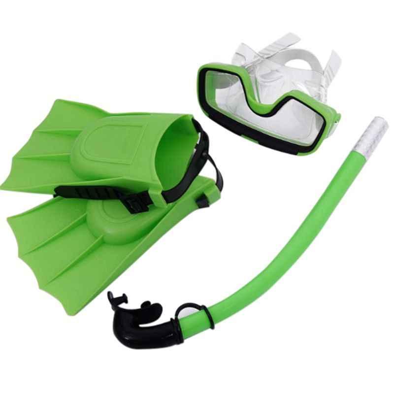 Üç Setleri Çocuklar Çocuk Tüp Şnorkel Maske Anti Sis yüzme gözlükleri Scuba Şnorkel Maske Gözlük Yüzme Havuzu dalış eldiveni