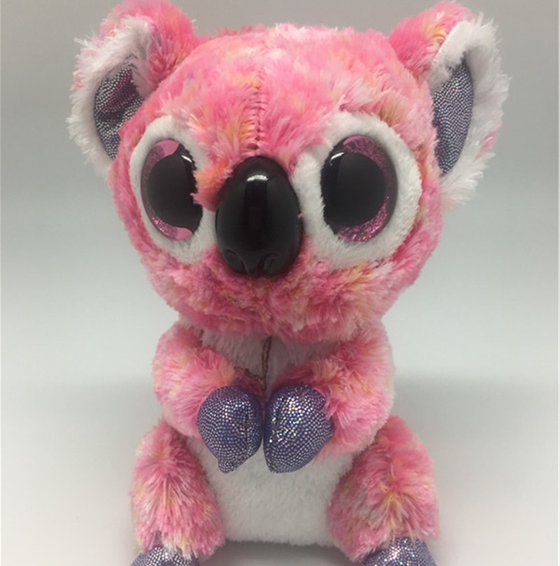 Big Eyes Beanie Boos Kids Stuffed Plush Koala Toy Colorful Muslin Pink Koala Bunny Lovely Birthday Gift Kawaii Cute Animals Doll 60cm dolphin lovely chicken colorful plush toys birthday chick stuffed doll blue or pink whale gift stuffing toy c38