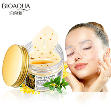 80 pcs/ bottle BIOAQUA Gold Osmanthus eye mask women Collagen gel whey protein face