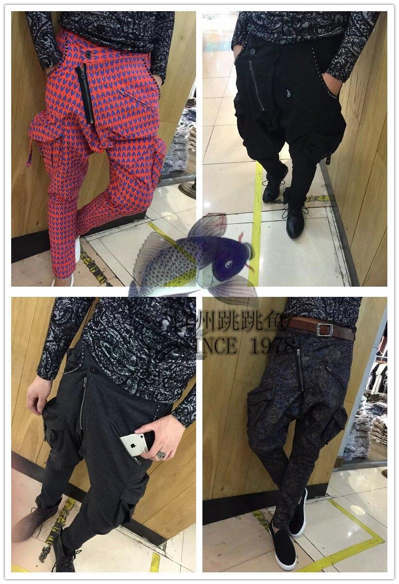 Pelo ¡s Slim Flores Versión 1 Pantalones Oscuro 2 Ropa Nuevos De 3 Picture 3xl as 4 Los Remache Moda ~ Estilista As Gd Personalidad as Hombres as Coreana 2019 rxPOr8wqT