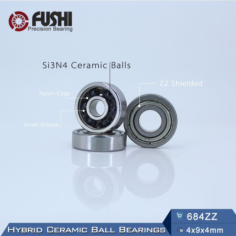 684 Hybrid Ceramic Bearing 4*9*4 mm ABEC-1 ( 1 PC) Industry Motor Spindle 684HC Hybrids Si3N4 Ball Bearings 3NC 684ZZ топор truper hc 1 1 4f 14951