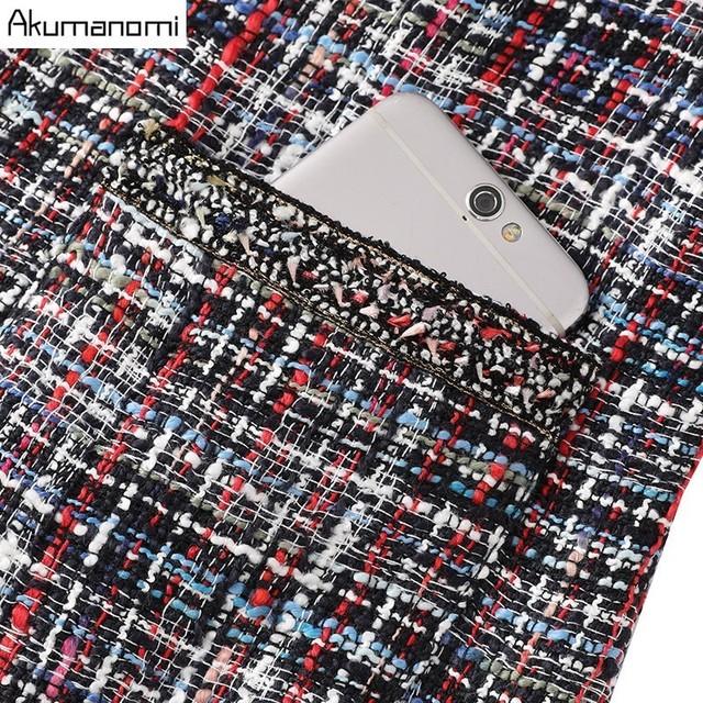 Autumn Plaid Jackets Women's Clothes V-neck Full Sleeve Pocket Brief Fashion New Spring Coats Plus Size 5xl 4xl 3xl 2xl Xl L M