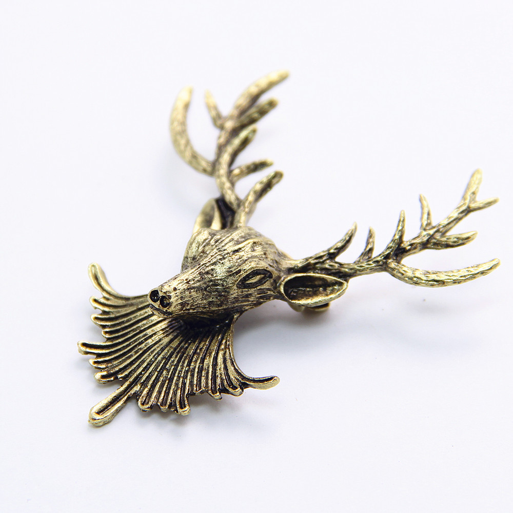 coupons christmas gifts promotion shop for promotional coupons vintage metal moose head brooch brooches pin men jewelry fashion jewelry for women 2014 christmas gift cy027 coupon