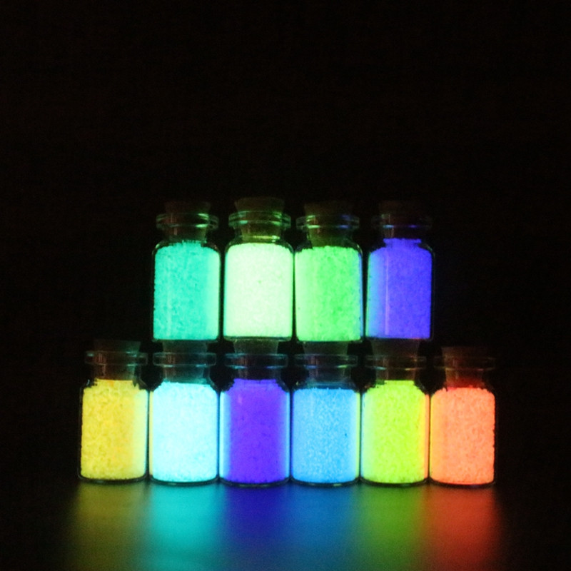 10g Luminous Sand Glow In The Dark Top Party DIY Bright Paint Star Wishing Bottle Fluorescent Particles Toys 2019 in Glow in the Dark Toys from Toys Hobbies
