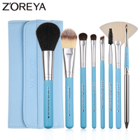 ZOREYA 8pcs Synthetic Hair Makeup Brushes Set Portable Cosmetic Tools For Daily Makeup Eye Shadow Powder