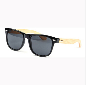 6610d84fd2 Stylish Bamboo Temple UV 400 Protection Sunglasses Black + Wood on ...