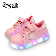 children shoes with light Hook Loop baby boys girls shoes led sneakers kids children lighting breathable boys glowing sneakers