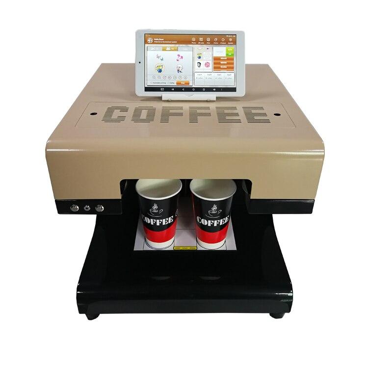Con leche capuchino selfie café con leche arte tinta comestible café impresora de la máquina de impresión