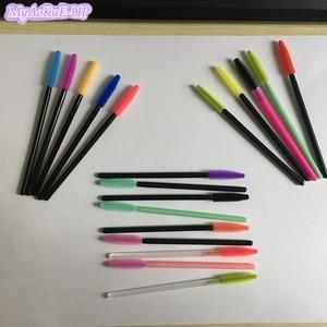 Image 5 - 1000pcs Disposable Eyelash Brushes Colorful Mascara Brush For Eyelash Extension Silicone Mascara Applicator Wand Make Up Brushes