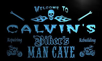 x0156-tm Calvins Man Cave Garage Bar Custom Personalized Name Neon Sign Wholesale Dropshipping On/Off Switch 7 Colors DHL