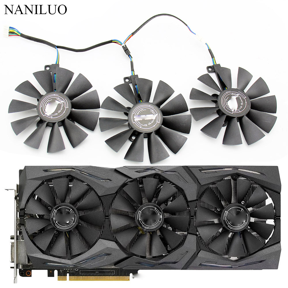 87MM FDC10U12S9-C FDC10H12S9-C For ASUS GTX 980 Ti R9 390X 390 GTX 1060 1070 1080 Ti RX 480 RX480 Graphics Card Cooling Fan image