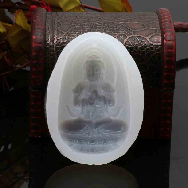 แม่พิมพ์ซิลิโคน Chinease เต๋า Guanyin พระพุทธรูปหยกเครื่องประดับจี้ Casting เครื่องมือ handmade Craft ตกแต่งอีพ็อกซี่เรซินแม่พิมพ์