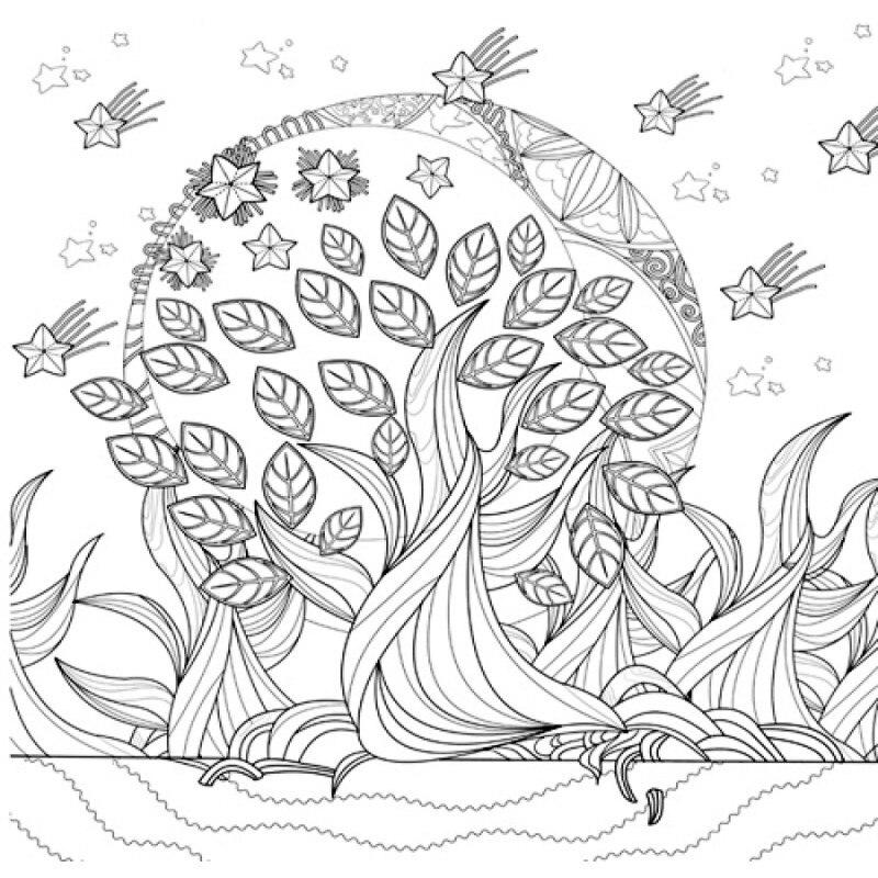 Selva Monogatari libro para colorear adultos niños aliviar estrés ...