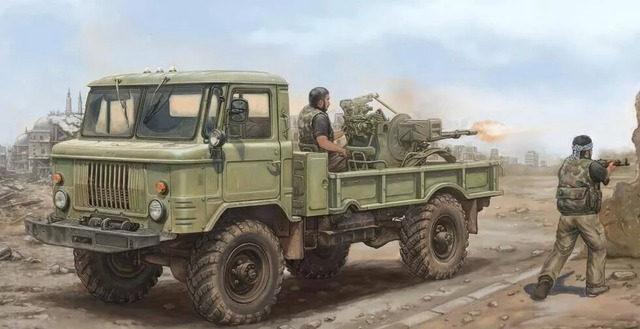 Tru01017 - trompetista 1:35 - rusia GAZ 66 camiones ligeros II